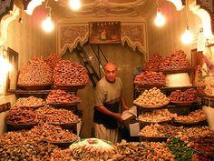 """Marrekesh, Morocco: """"Vendor Inside El Souk"""" by Nicholas Chen '11"""