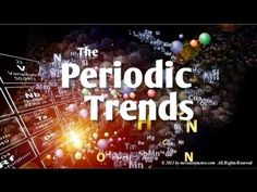Chemistry - Electronegativity, Ionization Energy and Other Periodic Table Trends | http://www.yourCHEMcoach.com - Mr. Causey discusses the importance of electronegativity, ionization energy and atomic radius. Electronegativity is the most important periodic trend and comprehending how it works will help you understand chemical bonding and chemical reactions. | http://www.knowmia.com/watch/lesson/6794