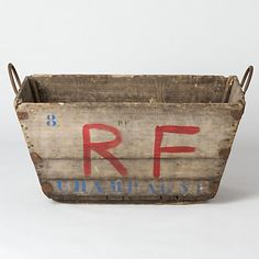 @Devlin Thompson Vineyard crate...possibly for Ed Roth's champagne grapes?