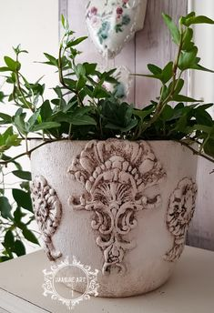 Plastic Planter, Plastic Pots, Decoupage, Recycled Tin Cans, Paint Pots, Chalk Paint Projects, Iron Orchid Designs, Painted Flower Pots, Diy Silicone Molds