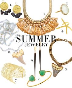 """@scoutguidenova  Gives us some """"Golden Rules"""" for Summer jewelry styling! Check out BBs @Margaret Elizabeth Chrysoprase bangle at #6! Summer Accessories, Summer Jewelry, Golden Rules, Quill, Wearable Art, Summer Fun, Bangle, Summer Outfits, Arches"""