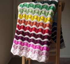 Ravelry: kittywithacupcake's Rainbow Bounce Knitting Blankets, Knitted Afghans, Crochet Blankets, Baby Blankets, Baby Knitting, Blanket Patterns, Knitting Patterns, Crotchet, Knit Crochet