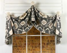 Looking For Elegant Curtain Patterns? Check Out Our Fully Lined & Interlined Pull-up Valance Sewing Pattern, Can Be Adapted To Fit Windows From To In Width! Valance Window Treatments, Custom Window Treatments, Window Coverings, Valance Patterns, Sewing Patterns, Valance Ideas, Curtain Ideas, Drapery Ideas, Curtain Designs