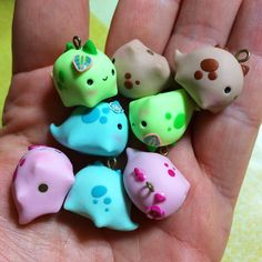 Cute clay dinos