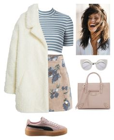 """""""Untitled #241"""" by californiamariposa ❤ liked on Polyvore featuring Alessandra Rich, MANGO, Puma, Balenciaga, women's clothing, women, female, woman, misses and juniors"""