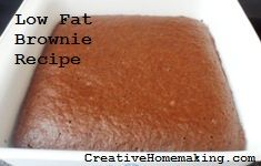 These lowfat brownies do not contain any butter or oil. They have a lot of flavor and are kid approved! Weight Watchers Points Plus value included.