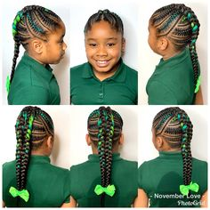 All styles of box braids to sublimate her hair afro On long box braids, everything is allowed! For fans of all kinds of buns, Afro braids in XXL bun bun work as well as the low glamorous bun Zoe Kravitz. Ghana Braids Hairstyles, Kids Braided Hairstyles, Fancy Hairstyles, Everyday Hairstyles, Hairstyle Ideas, Popular Hairstyles, Hairstyles Pictures, Hairdos, Little Girl Braids