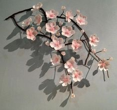 Ceramic Sakura (Cherry Blossoms) asian accessories and decor is part of Cherry blossom decor - Paper Flowers Craft, Felt Flowers, Flower Crafts, Diy Flowers, Fabric Flowers, Paper Crafts, Cherry Blossom Decor, Cherry Blossom Party, Sakura Cherry Blossom