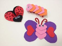 Cut out heart shapes from foam sheets or construction paper and piece together to make animals.