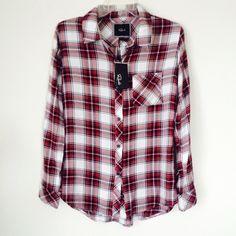 RAILS SOFT PLAID SHIRT Gorgeous! New! Button down, soft rails shirt. size small. NO TRADES OFFERS WELCOME Rails Tops Button Down Shirts