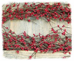 Our classic Red Pip Berry Garlands are a classical and traditional year round favorite. So easy to work with, these pliable, bendable berry garlands are great for designing charming door wreaths and swags. Can be cut into sections or clipped at the branches to create candle rings and berry picks.  Add a burst of color to buffet tables and floral centerpieces too!   Length:  54   Add a touch of warmth and glimmer to your garlands with our teeny bulb light sets, sold separately (not attached…