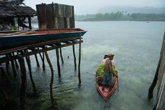 A seaweed farmer heads back home with his harvest. Photo by Jacob… Seaweed, Farmer, Philippines, Harvest, Most Beautiful