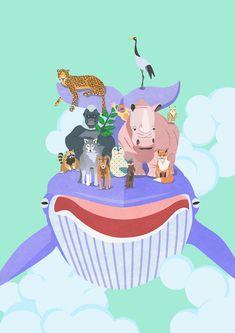 #animal #wild #leopard #rhinoceros #gorilla #whale #fox #wolf # #environment #protect #illust #illustration #greenpeace #wwf #cites #멸종위기 #코뿔소 #동물 #표범 #고릴라  #자연 #환경보호 #숲 #멸종위기종 #일러스트 Animals Of The World, Habitats, Illustration, Wolf, Wildlife, Environment, Snoopy, Fictional Characters, Wolves