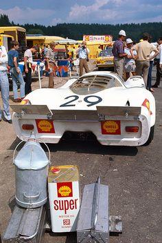 Jo Siffert & Kurt Ahrens Jr.'s Shell Porsche 917 at Zeltweg for the 1969 Grosser Preis von Österreich (1000km)