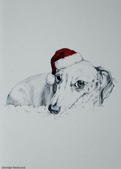 Sandy, you need to print this and frame it for your dog corner for next year!  It is adorable...  Christmas Doxie