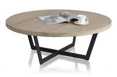 Henders & Hazel Seneca, salontafel rond 100 cm. | Hoogenboezem Meubelen