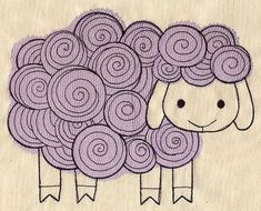 Little Lamb | Urban Threads: Unique and Awesome Embroidery Designs. Machine