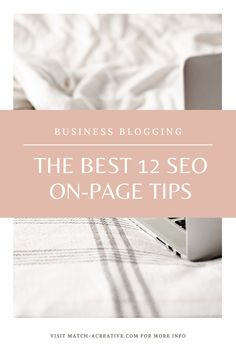 You want to attract quality audience to your blog + website and rank organically in search engines? With my 12 SEO on-page tips, you'll optimize your content and make it easily searchable for people searching your keywords.