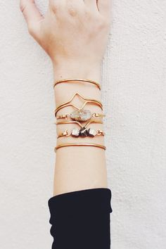 Hammered Brass Geometric Cuff by RockSaltVintage on Etsy, $25.00 @rushbomb we need the whole stack!
