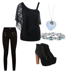 """""""Untitled #79"""" by alicianell165 on Polyvore featuring Jeffrey Campbell, Paige Denim and Martick"""
