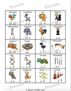 Carnival of the Animals Composing by Mrs Stouffer's Music Room Music Lesson Plans, Music Lessons, Carnival Of The Animals, Music Worksheets, Music And Movement, Piano Teaching, Music Activities, Elementary Music, Music Classroom