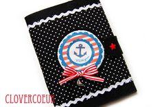 Mutterpasshüllen - ANKER ~ anchor ♥ maritime Mutterpasshülle - ein Designerstück von clovercoeur bei DaWanda