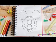 How to draw Mickey Mouse - Easy step-by-step drawing lessons for kids - YouTube