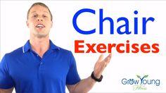 Chair exercises - Low Impact Exercises - Sitting Exercises - YouTube