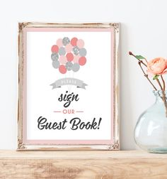 Sign Our Guest Book  Guest Book Sign  by MissDesignBerryInc