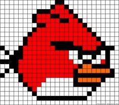 Angry Birds perler bead pattern Angry Birds strijkkralen patroon
