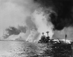 Struck by two battleships and two big bombs, the USS California, right, settles to the bottom during the Japanese sneak attack on Pearl Harbor on Dec. 1941 during World War II. The Associated Press Pearl Harbor Survivors, Remember Pearl Harbor, Big Bomb, Uss Arizona, Sneak Attack, Imperial Japanese Navy, Pearl Harbor Attack, Rare Photos, Iconic Photos