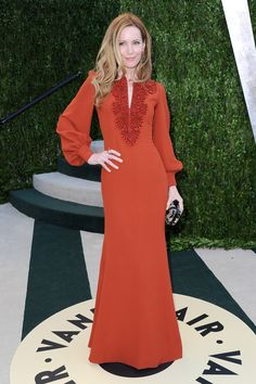 I love this Beautiful Maxi Gown..that Actress Leslie Mann is Wearing...! click on pic to enlarge...the beading on the V Front line is Gorgeous...! It's looks very 70's