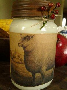 Primitive Sheep Candle