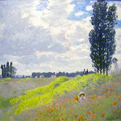 Walk in the Meadows at Argenteuil, 1873, Claude Monet