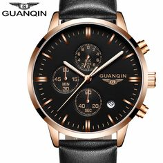 GUANQIN Mens Watches Top Brand Luxury Military Sport uartz Watch Men Chronograph #GUANQIN #Luxury
