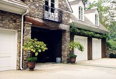 Country House Renovation 07  Porte Cochere at Garage by Spitzmiller & Norris, Inc.