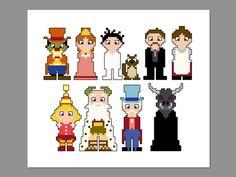 Little Nemo Pixel People Character Cross Stitch by CheekySharkLabs