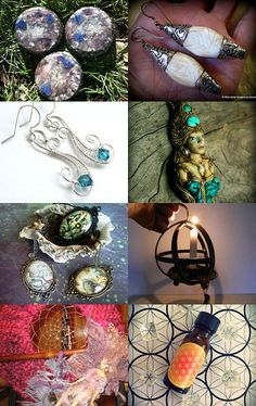 """""""Keepers Of Enchantment Team April"""" Curated by Holly  @ https://www.etsy.com/shop/NittyGrittyThreads Featuring my Vintage Tibetan Sacred Conch Shell Sterling Repousse Earrings from my personal Faves Collection @ https://www.etsy.com/listing/167916273/vintage-tibetan-sacred-conch-shell?ref=tre-2723538999-2"""