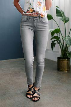 The Grey Slate Skinny Jeans