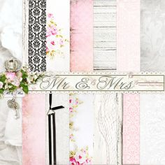 A beautiful set of patterned papers from Raspberry Road that would be perfect background for your wedding projects.