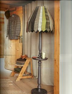 men 39 s ties turned into a cool lampshade. Black Bedroom Furniture Sets. Home Design Ideas