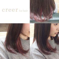 本日のお客様 インナーカラーにチェリーピンクを入れました 春らしく可愛らしいポイントカラーで遊んでみるのもいいですね いつもありがとうございます #美容室#鴨池#creer_for_hair #チェリーピンク #インナーカラー #アッシュ #wカラー