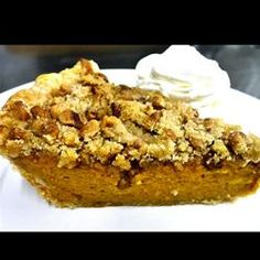 """Maple Walnut Pumpkin Pie 