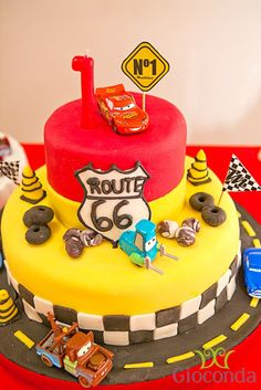 What a great cake at a Disney Cars Birthday Party!   See more party ideas at CatchMyParty.com!   #partyideas #cars
