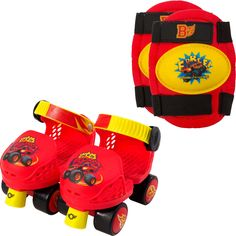 PlayWheels Blaze and the Monster Machines Kids Roller Skates with Knee Pads - Junior Size Captain America Toys, Kids Roller Skates, Skate Store, Mickey Mouse Wallpaper, Pink Zebra, Kids Store, Roller Skating, Doll Accessories, Kid Shoes