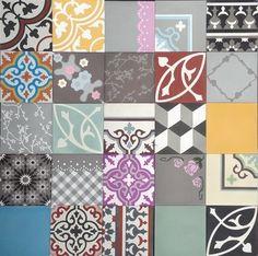zementfliesen -> Patchwork Bonte mix - Designfliesen