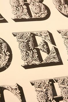 illustrated capitals (via ben mitchell 2009)  from the st bride library in london.
