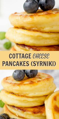 These Cottage Cheese Pancakes are a traditional Russian recipe. They are pillowy… These Cottage Cheese Pancakes are a traditional Russian recipe. They are pillowy soft, sweet and kids approved. Delicious breakfast idea that your family will love. Pancakes For Dinner, Breakfast Pancakes, Breakfast For Dinner, Best Breakfast, Keto Pancakes, Breakfast Dessert, Russian Breakfast, High Protein Breakfast, Savory Breakfast