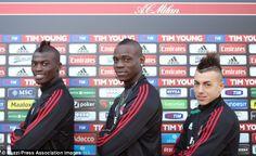 Balotelli M'Baye Niang and Stephan El Shaarawy   