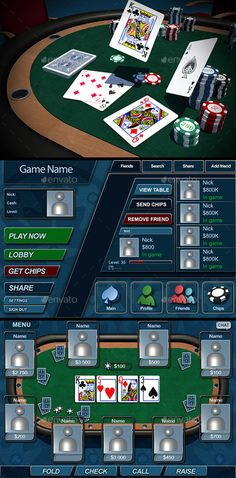 Poker Game. (Game Assets)